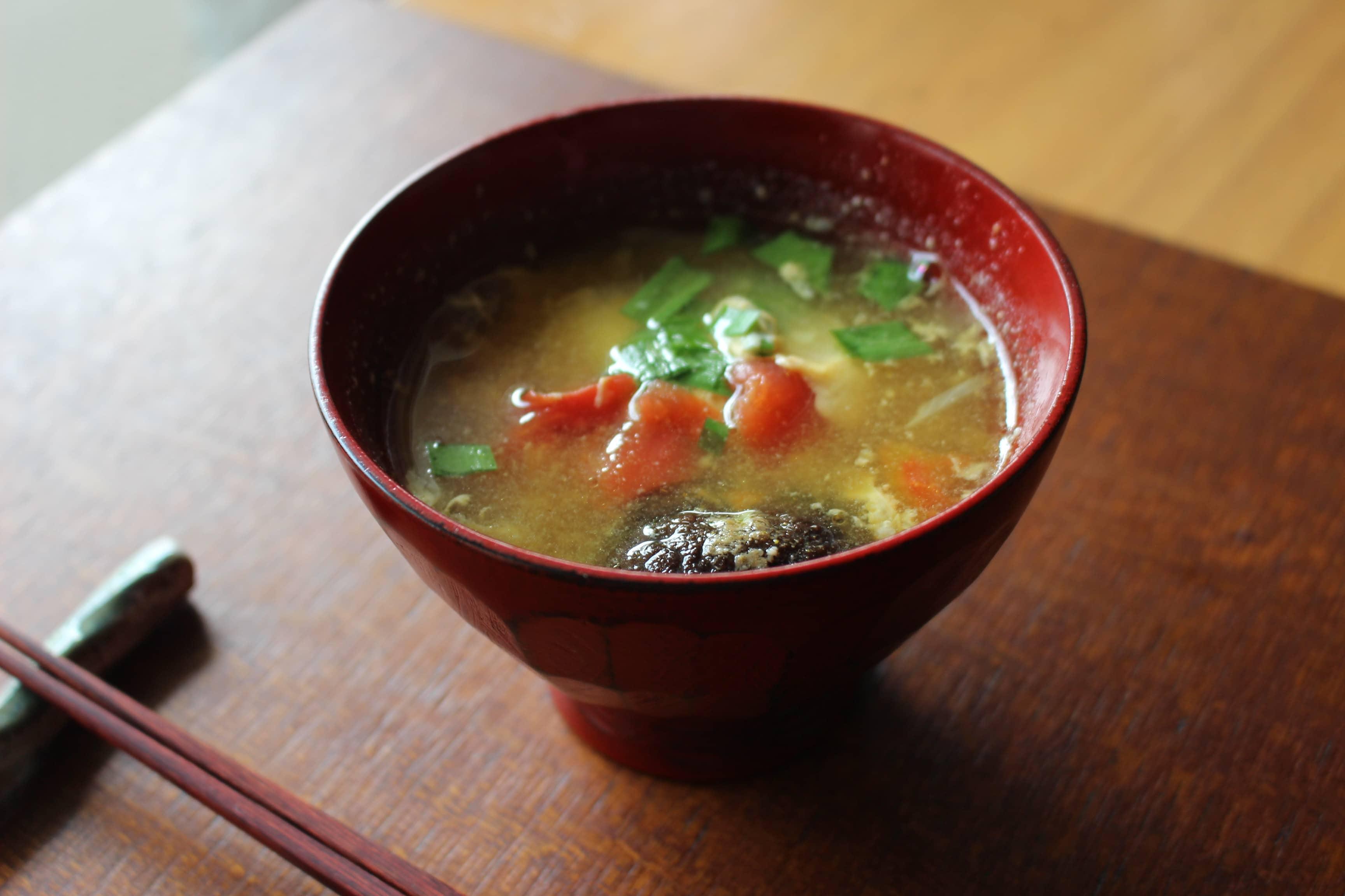 昼ご飯の味噌スープ