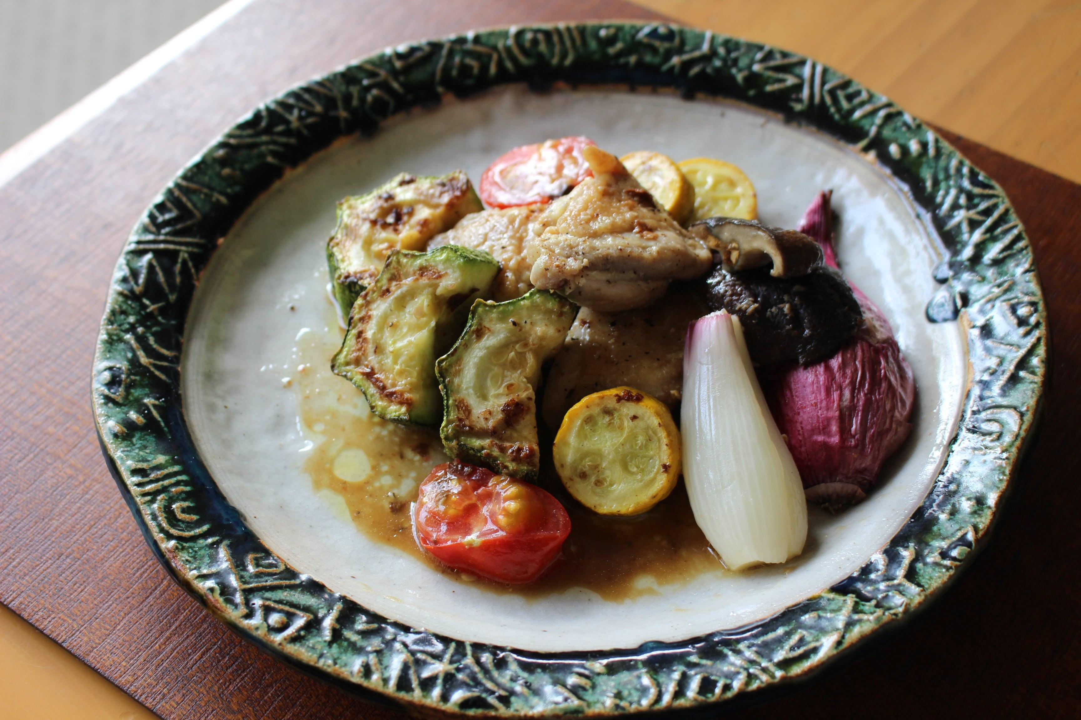 夏野菜の無国籍料理