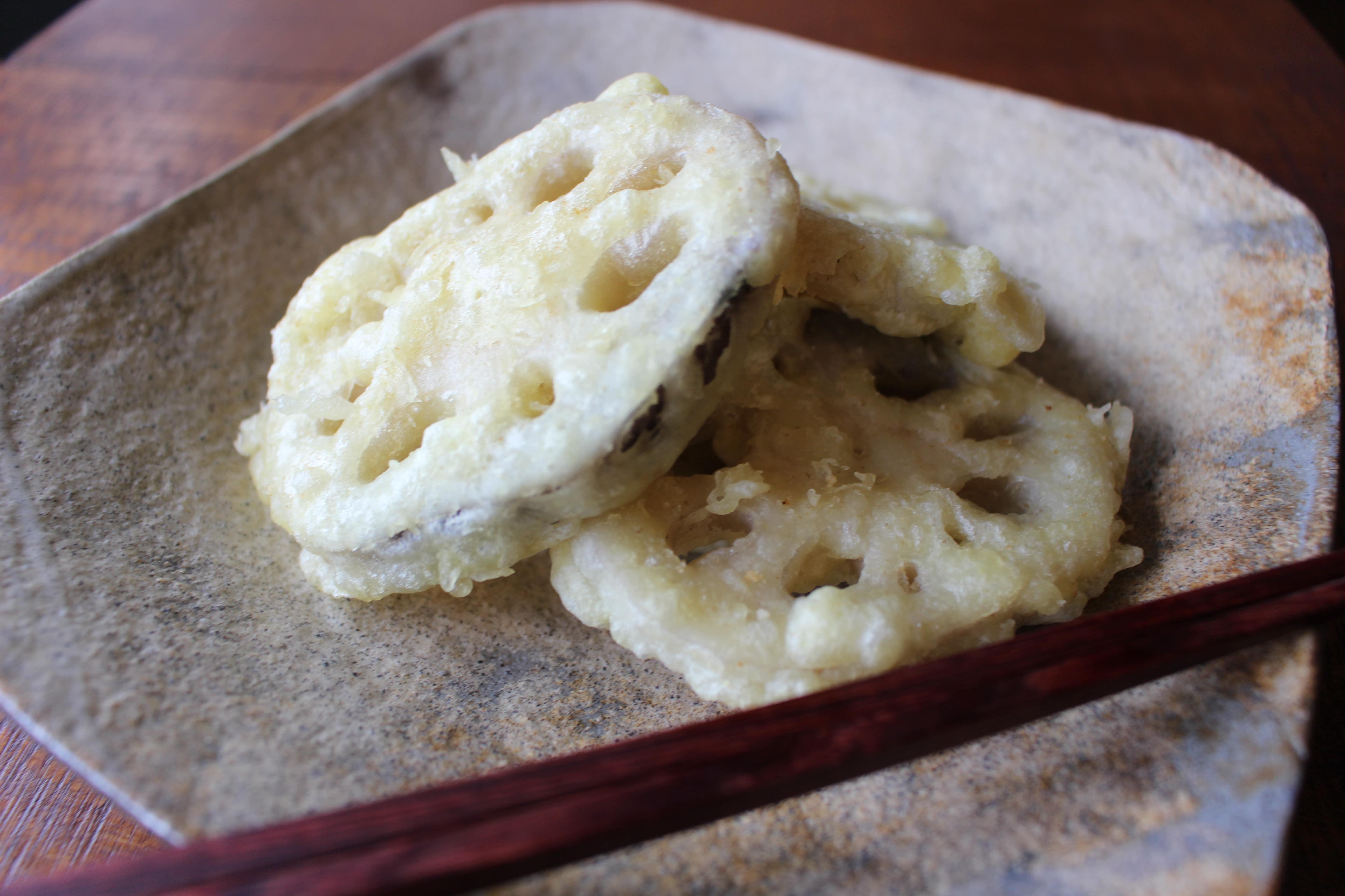 シンプルが一番!蓮根の天ぷら